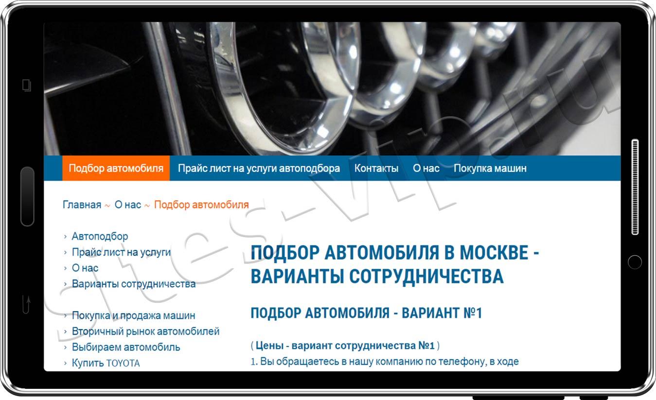 Портфолио - Подбор автомобиля в Москве