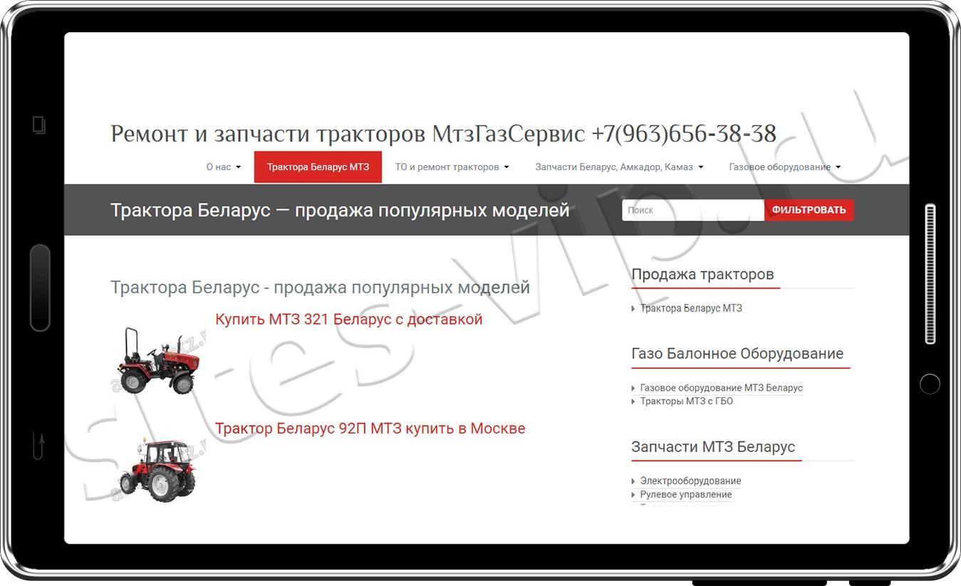 Создание и продвижение сайта - 'МТЗ-газсервис'